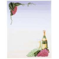 8 1/2 inch x 11 inch Menu Paper - Wine Setting Themed Grapevine Design Cover - 100/Pack