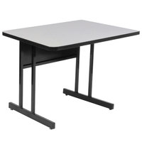 Correll WS2436 24 inch x 36 inch Rectangular High Pressure Top Desk Height Computer and Training Table