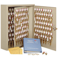 MMF Industries 2018240M03 Steelmaster Dupli-Key Sand-Colored Two-Tag 240-Key Cabinet with Master-Keyed Lock