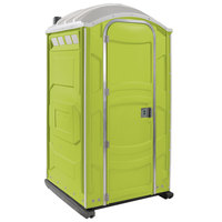 PolyJohn PJN3-1004 Lime Green Portable Restroom with Translucent Top - Assembled