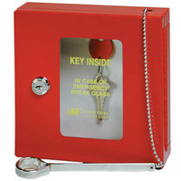 MMF Industries 201900007 Red Emergency Key Box with Disc-Tumbler Key Lock Keyed Differently