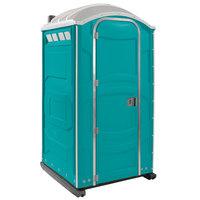 PolyJohn PJN3-1000 Aqua Portable Restroom with Translucent Top - Assembled