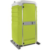 PolyJohn FS3-1004 Fleet Lime Green Premium Portable Restroom - Assembled