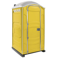 PolyJohn PJN3-1009 Yellow Portable Restroom with Translucent Top - Assembled