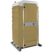 PolyJohn FS3-1006 Fleet Tan Premium Portable Restroom - Assembled