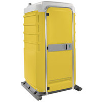 PolyJohn FS3-1009 Fleet Yellow Premium Portable Restroom - Assembled