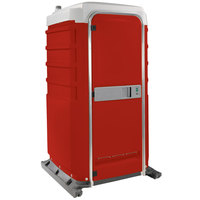 PolyJohn FS3-1013 Fleet Red Premium Portable Restroom - Assembled