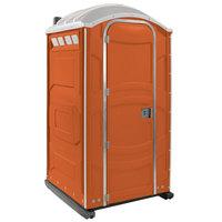 PolyJohn PJN3-1011 Orange Portable Restroom with Translucent Top - Assembled
