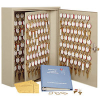MMF Industries 2018090D03 Steelmaster Dupli-Key Sand-Colored Two-Tag 90-Key Cabinet with Dual-Control Lock