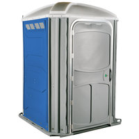PolyJohn PH03-1001 Comfort XL Blue Wheelchair Accessible Portable Restroom - Assembled