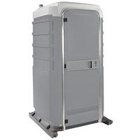 PolyJohn FS3-1005 Fleet Pewter Premium Portable Restroom - Assembled