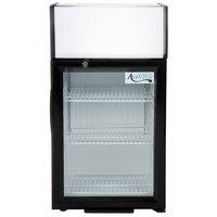 Avantco SC-40 Black Countertop Display Refrigerator with Swing Door