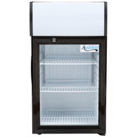 Avantco SC-40 Black Countertop Display Refrigerator with Swing Door