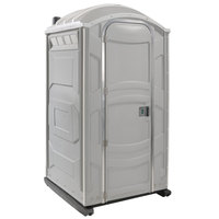 PolyJohn PJN3-1007 Light Gray Portable Restroom with Translucent Top - Assembled