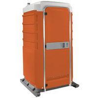 PolyJohn FS3-1011 Fleet Orange Premium Portable Restroom - Assembled