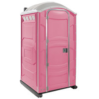 PolyJohn PJN3-1012 Pink Portable Restroom with Translucent Top - Assembled