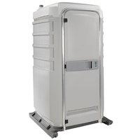 PolyJohn FS3-1007 Fleet Light Gray Premium Portable Restroom - Assembled