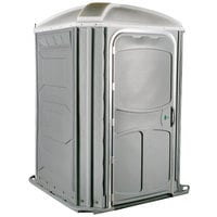 PolyJohn PH03-1005 Comfort XL Pewter Wheelchair Accessible Portable Restroom - Assembled