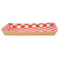 Southern Champion 0590 Checkered Kraft Lunch Tray - 50/Pack