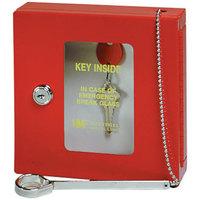 MMF Industries 201900307 Red Emergency Key Box with Disc-Tumbler Key Lock Keyed Alike