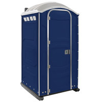 PolyJohn PJN3-1016 Dark Blue Portable Restroom with Translucent Top - Assembled