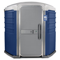 PolyJohn SA1-1016 We'll Care III Dark Blue Wheelchair Accessible Portable Restroom - Assembled
