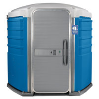PolyJohn SA1-1001 We'll Care III Blue Wheelchair Accessible Portable Restroom - Assembled