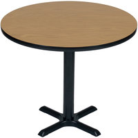 Correll BXB36R 36 inch Round Bar Height High Pressure Cafe / Breakroom Table