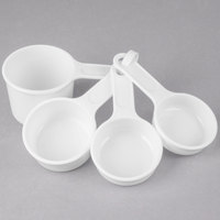 Rubbermaid FG8315ASWHT 4-Piece Plastic Measuring Cup Set