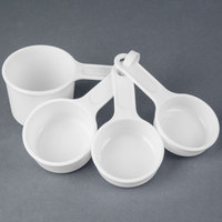 Rubbermaid FG8315ASWHT Plastic Measuring Cup Set