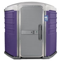 PolyJohn SA1-1010 We'll Care III Purple Wheelchair Accessible Portable Restroom - Assembled