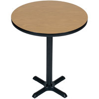Correll BXB48R 48 inch Round Bar Height High Pressure Cafe / Breakroom Table