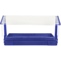 Cambro BBR720186 74 inch x 24 inch x 25 inch Navy Blue Buffet / Salad Bar with Free Standing Sneeze Guard