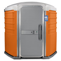 PolyJohn SA1-1011 We'll Care III Orange Wheelchair Accessible Portable Restroom - Assembled