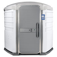 PolyJohn SA1-1008 We'll Care III White Wheelchair Accessible Portable Restroom - Assembled