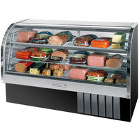 Beverage-Air CDR6HC-1-BB-20 Black Curved Glass Refrigerated Bakery Display Case 73 inch - 27.6 Cu. Ft.
