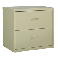 Hirsh Industries 14954 Putty Two-Drawer Lateral File Cabinet - 30 inch x 18 5/8 inch x 28 inch