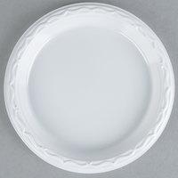 Genpak 70600 Aristocrat 6 inch White Heavy Plastic Plate - 125 / Pack