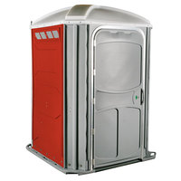 PolyJohn PH03-1013 Comfort XL Red Wheelchair Accessible Portable Restroom - Assembled