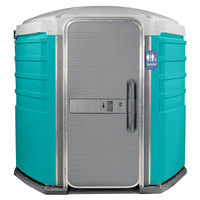 PolyJohn SA1-1000 We'll Care III Aqua Wheelchair Accessible Portable Restroom - Assembled