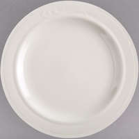 Homer Laughlin 6051000 Lyrica 7 1/4 inch Ivory (American White) China Plate - 36/Case
