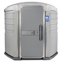 PolyJohn SA1-1007 We'll Care III Light Gray Wheelchair Accessible Portable Restroom - Assembled