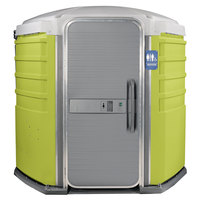 PolyJohn SA1-1004 We'll Care III Lime Green Wheelchair Accessible Portable Restroom - Assembled
