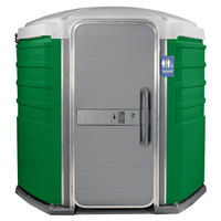 PolyJohn SA1-1122 We'll Care III Verdant Wheelchair Accessible Portable Restroom - Assembled