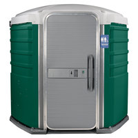 PolyJohn SA1-1003 We'll Care III Evergreen Wheelchair Accessible Portable Restroom - Assembled