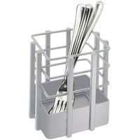 Cal-Mil 1544-74 Soho Silver Metal 4 inch Square Flatware Organizer