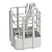 Cal Mil 1544-74 4 inch x 4 inch Silver Soho Single Slot Metal Flatware Organizer