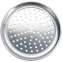 American Metalcraft PHATP7 7 inch Perforated Heavy Weight Aluminum Wide Rim Pizza Pan