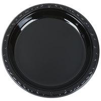 "Genpak BLK10 Silhouette 10 1/4"" Black Premium Plastic Plate   - 100/Pack"