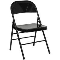 Black Metal Folding Chair